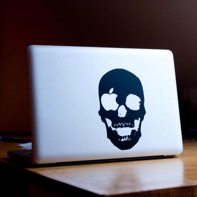 Skull macbook sticker
