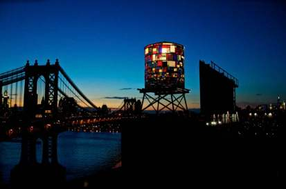 Tom Fruin Watertower Night
