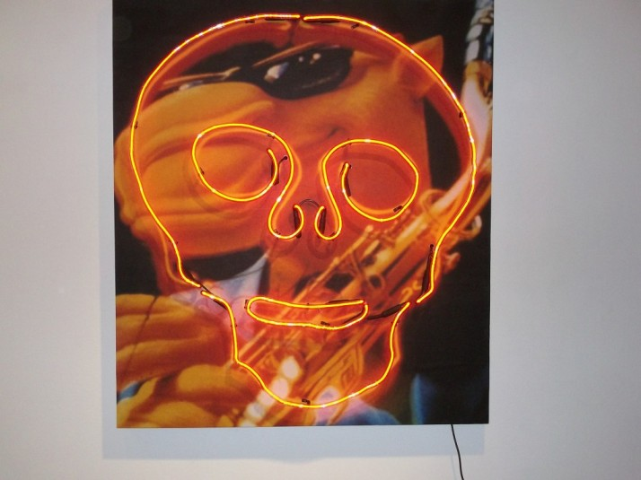 Neon Skull Over Joe Camel Image By John Law (Jack Napier)