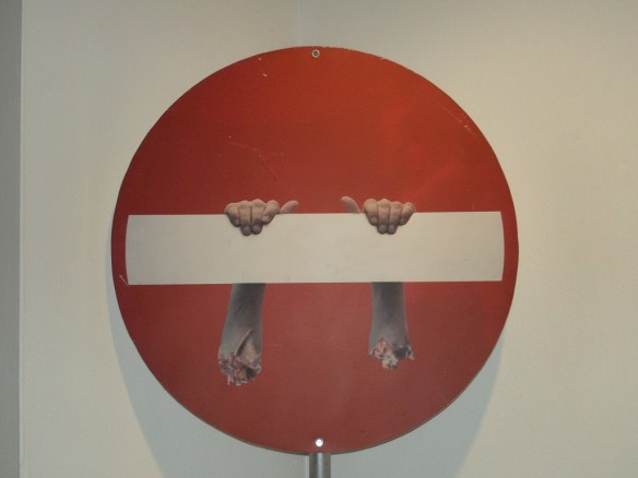 No Entry Severed Arms By Dan Witz