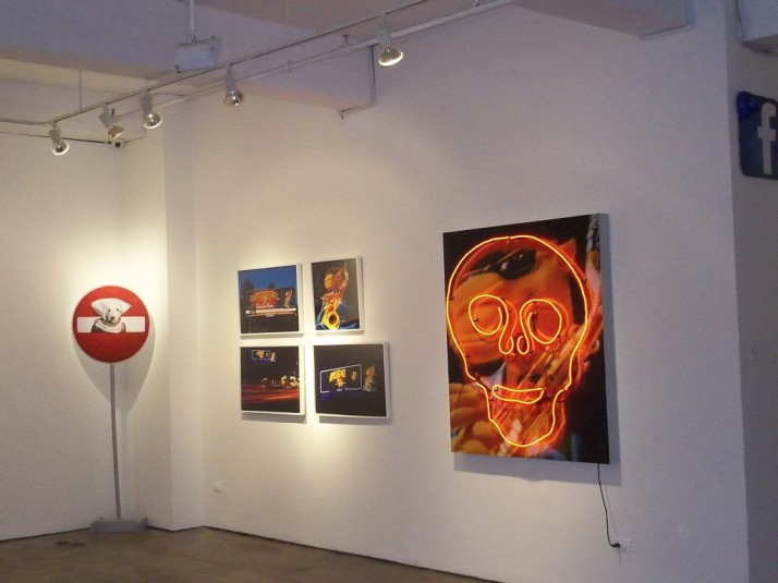 Front Gallery Right Wall Featuring Works by By John Law (Jack Napier)