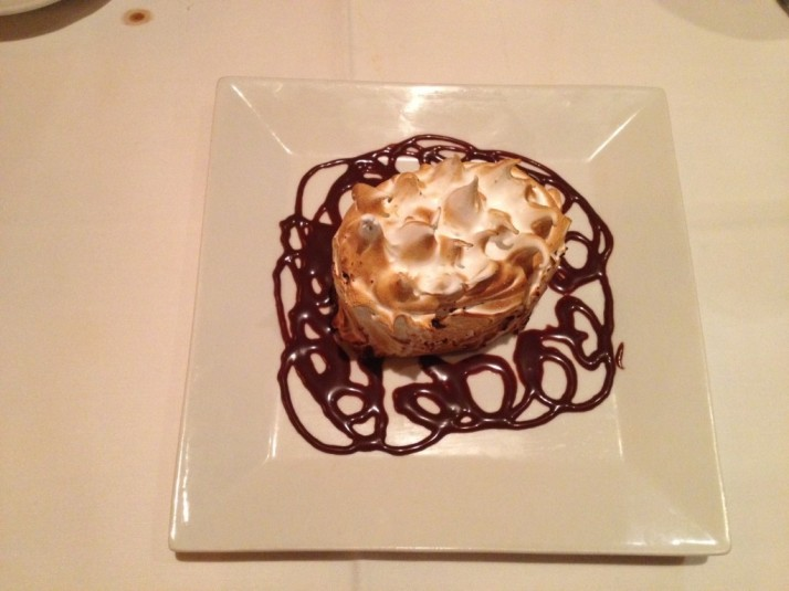 Baked Astoria Dessert at Christos Steak House