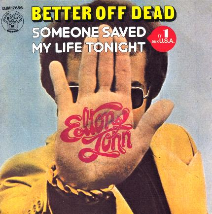 Elton John Better Off Dead Single Cover Art