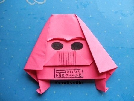 Pink Thing Of The Day Origami Darth Vader The Worley Gig