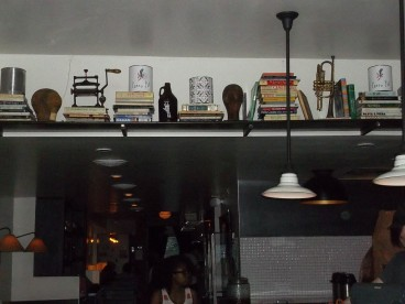 Shelf at Entrance by Bar