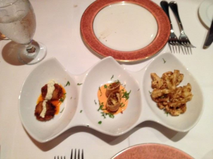 Select Appetizer Trio at Christos Steak House