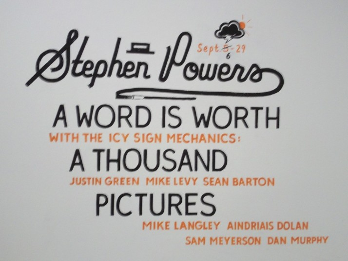 Stephen Powers Word is Worth a Thousand Pictures