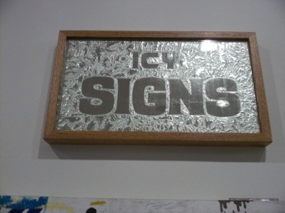 Stephen Powers Icy Sign