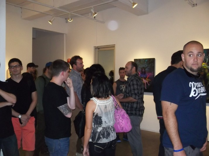 Jeff Soto Reception Crowd at Jonathan Levine