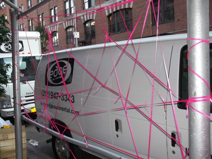 Pink Arrangement Pink Ribbon Public Work