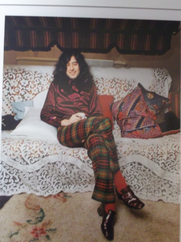 Jimmy Page Color Portrait By Barrie Wentzell