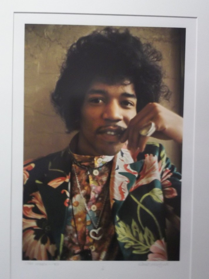 Jimi Hendrix Color Portrait By Barrie Wentzell