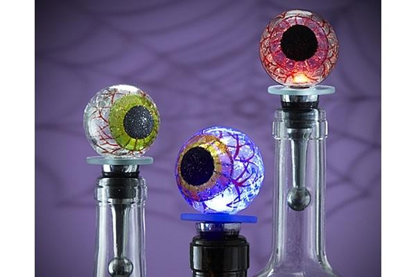 Light up eyeball wine bottle stopper the worleygig for Light up wine bottles