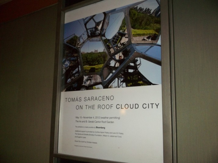 Saraceno Sculpture Cloud City Poster