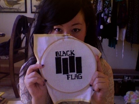 Black Flag Needle Point