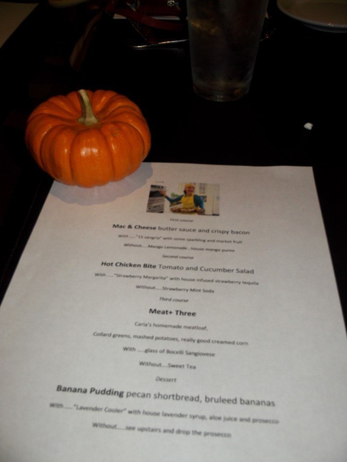 Carla Hall's Dinner Menu with Pumpkin