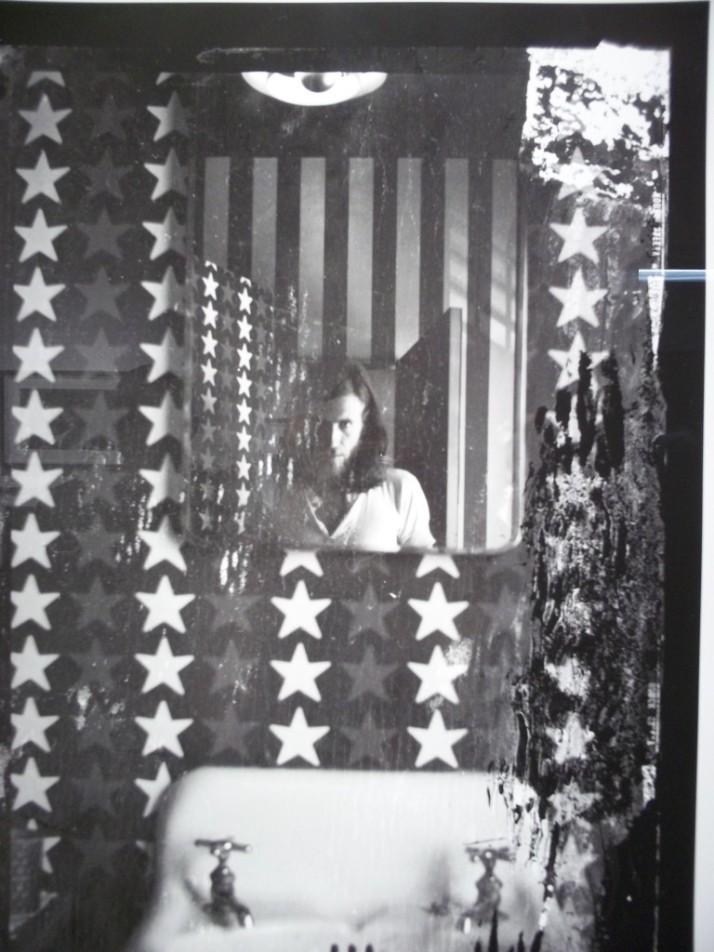 Graham Nash Self Portrait in the Flag
