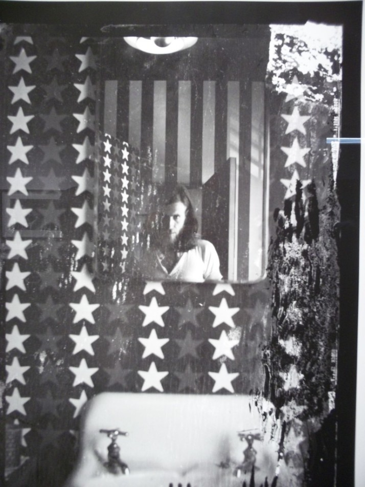 Graham Nash Self Portrait in the Flag