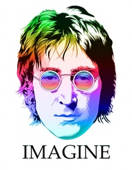 John Lennon Rainbow Imagine