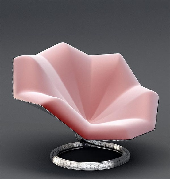 Pink Gramophone Lounge Chair