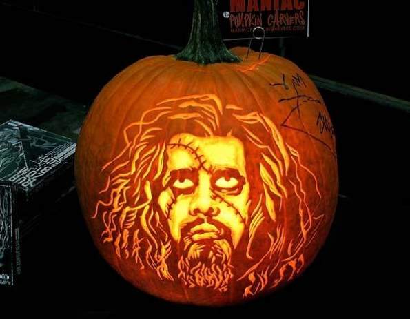 Rob Zombie Carved Pumpkin