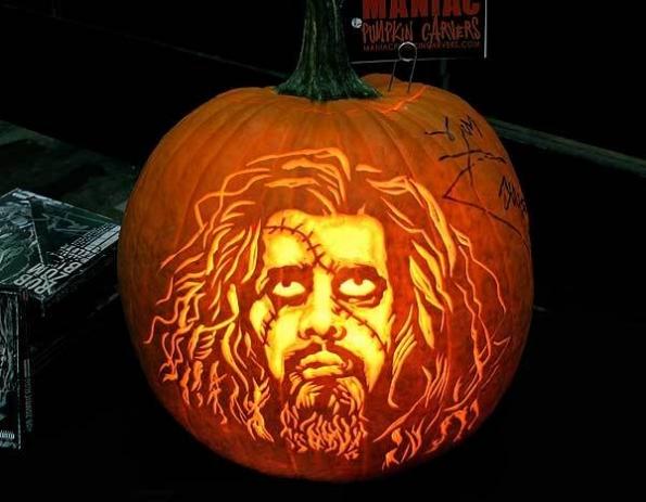 Rob Zombie Carved Pumpkin