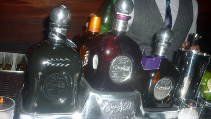 Casa Noble Tequila Bottle Display