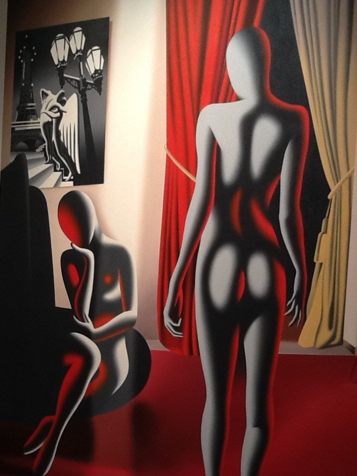 Mark Kostabi Red Nudes