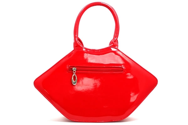 Red Patent Vinyl Lips Handbag