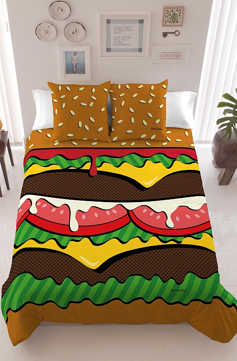Cheeseburger Duvet and Pillows