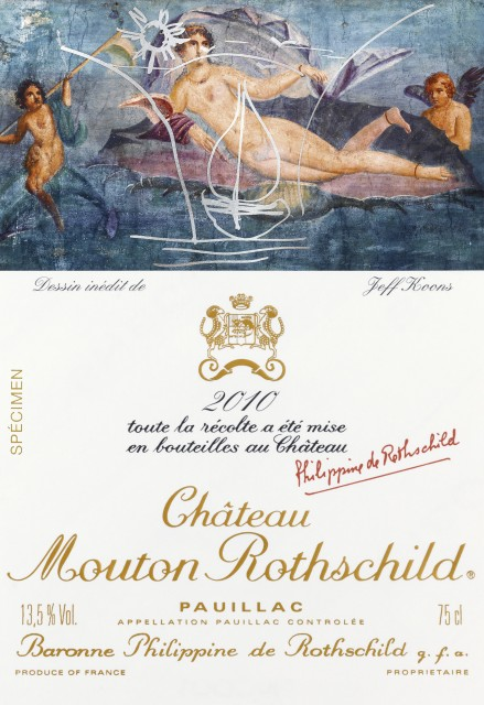 Jeff Koons Wine Label