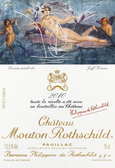 Jeff Koons Wine Label