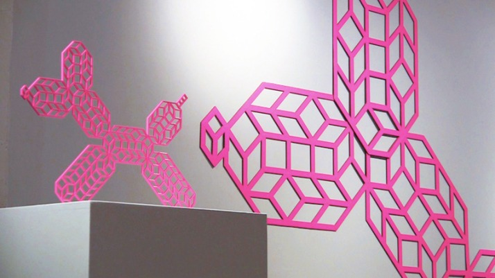 Pink Geometric Balloon Dog By Aakash Nihalani