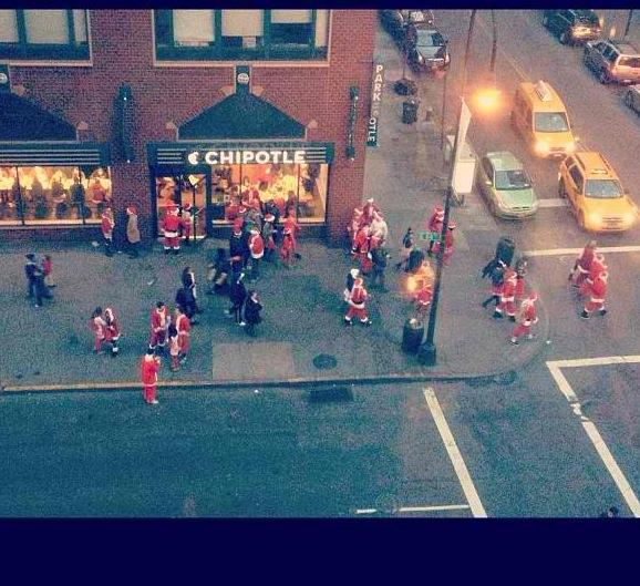 Santacon At Chiptole