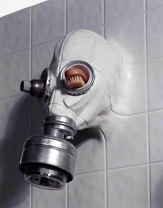 Gas Mask Shower Head