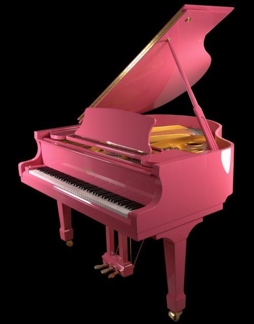 Pink Grand Piano