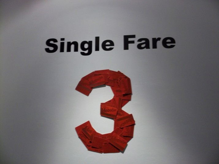 Single Fare 3 Metrocard Art Exhibit