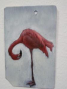 Metrocard Art Flamingo