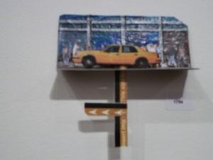 Metrocard Art Kinetic Taxi Sculpture
