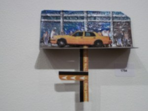 Metrocard Art Kinetic Taxi Sculpture