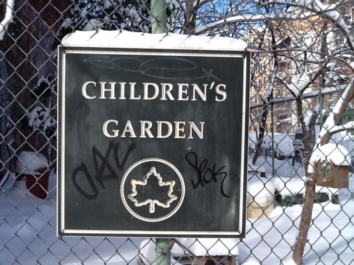 Children's Garden Sign