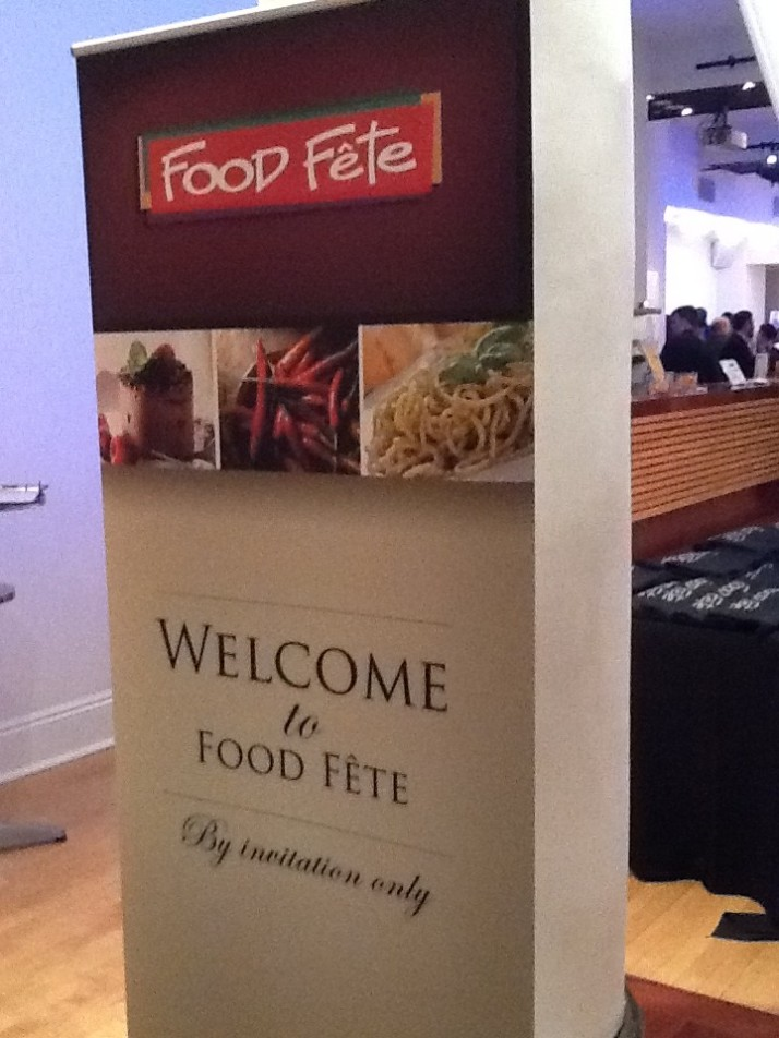 Food Fete Welcome Sign