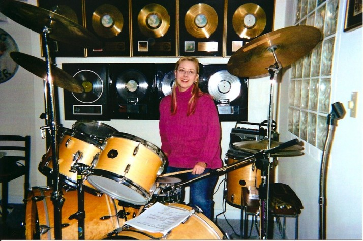 Gail on Neals Drums