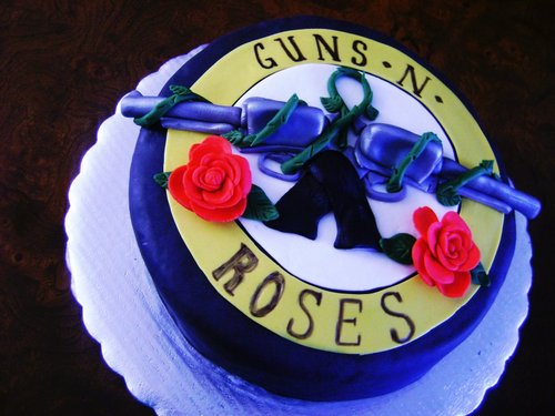 GNR Birthday Cake