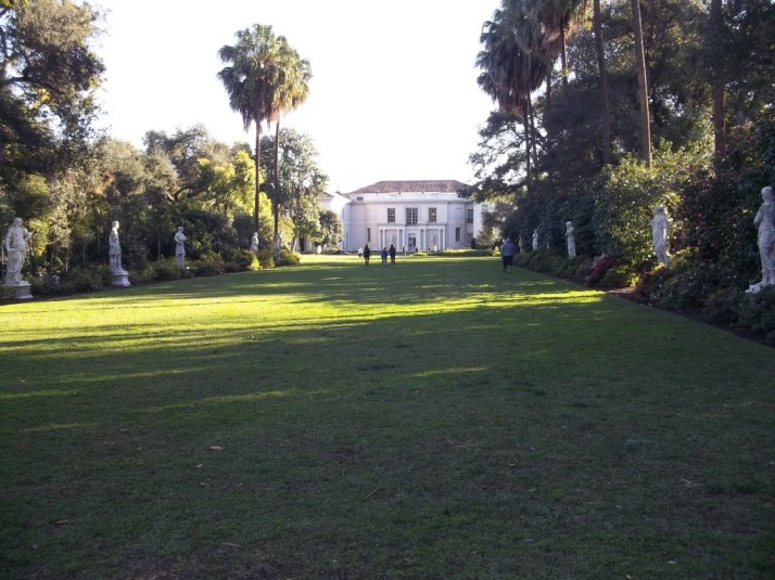 Huntington Library Main House from Marble Statue Garden