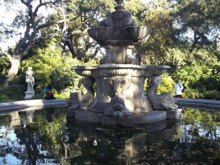 Huntington Library Marble Statue Fountain