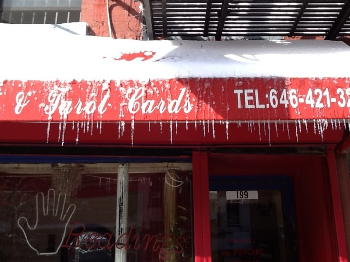 Icicles on Storefront
