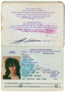 Joey Ramone's Passport