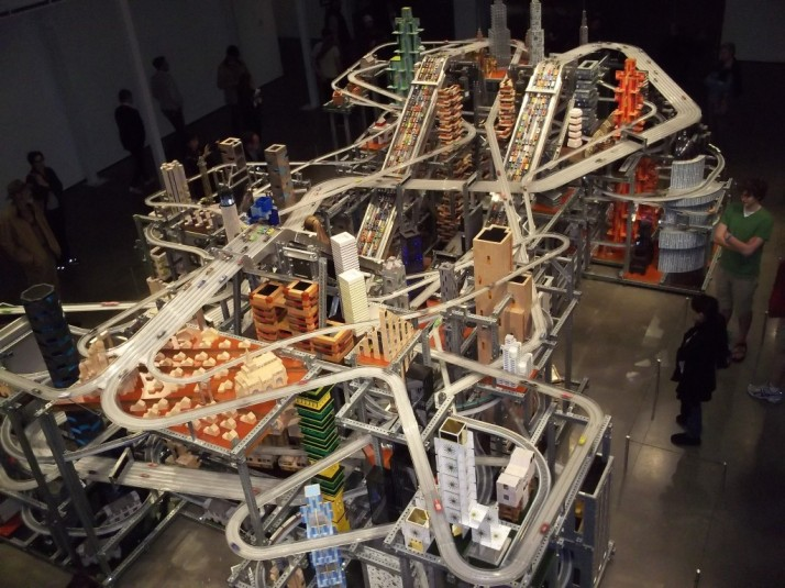 LACMA Chris Burden Metropolis 2 Overhead View