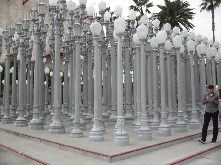 Chris Burden LACMA Street Lamps Installation